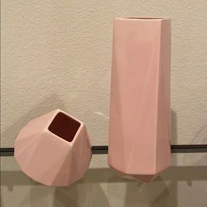 NWT Faceted porcelain vase set from West Elm